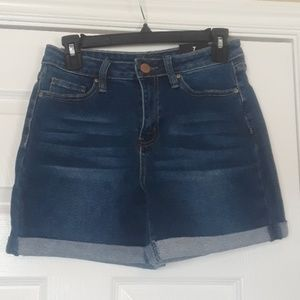 Fashion Nova Stretchy Long Denim Shorts